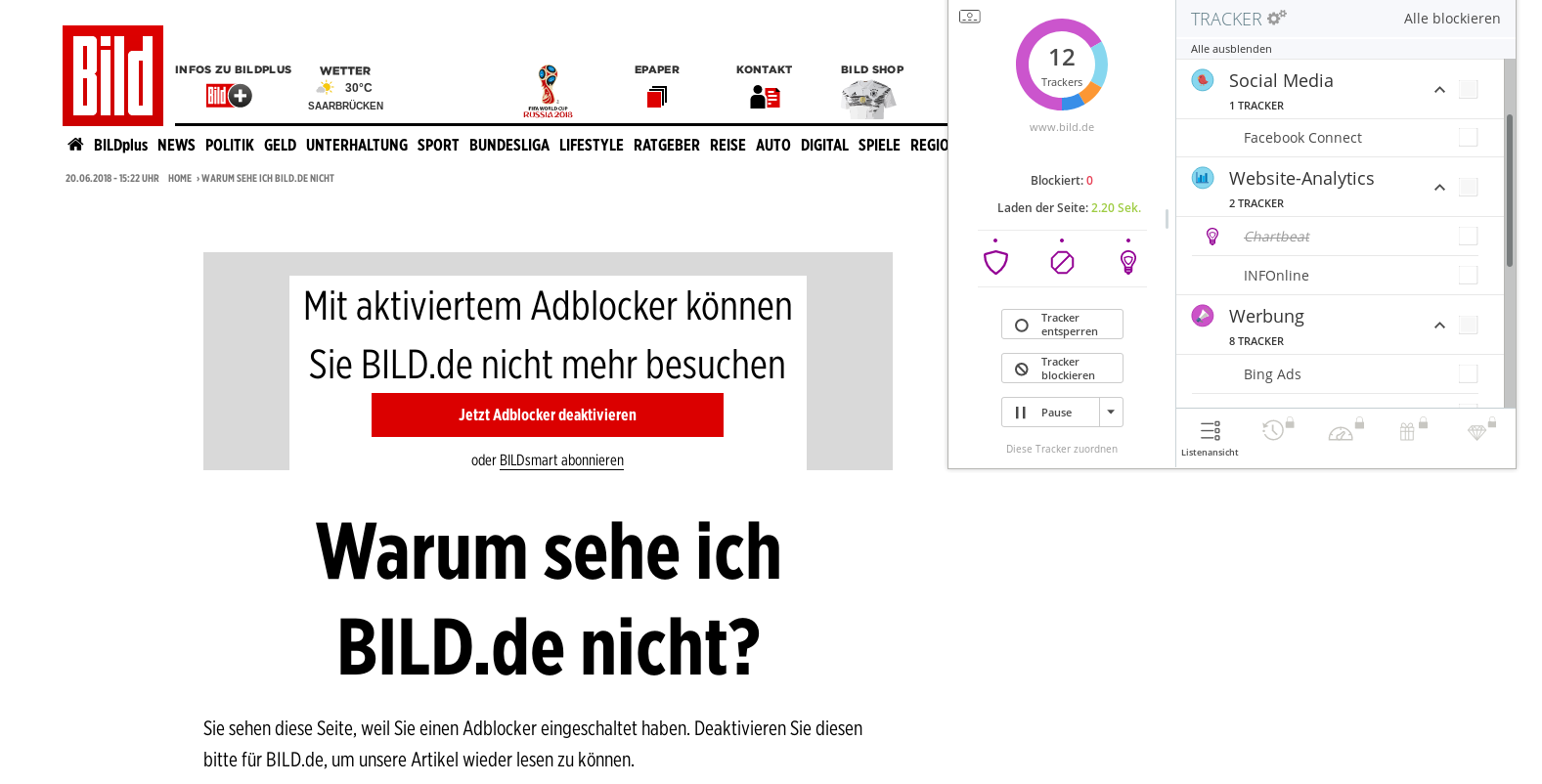 Screenshot: www.bild.de